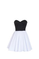 Black & White 50s Style Party Prom Dress