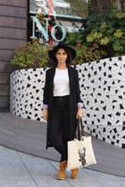 black asos coat - mustard Panama Jack boots - black Topshop jeans