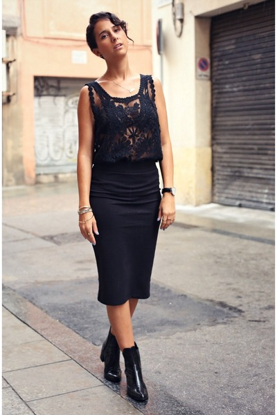 Black H&M Pencil Skirt Skirt | Chictopia