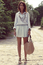 Zara bag - H&M shirt - Zara shorts - asos necklace - Zara sandals