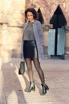 black coatigan asos coat - black Zara boots