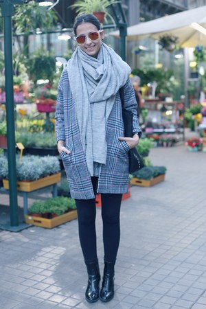 pieces scarf - asos coat