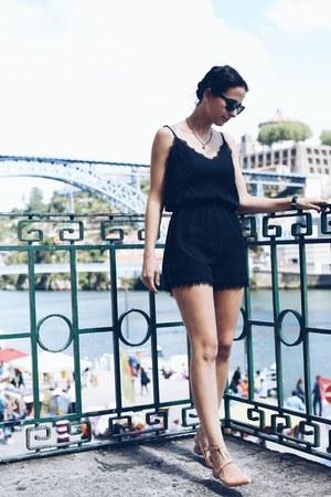 black Fashionpills romper - peach zalando flats