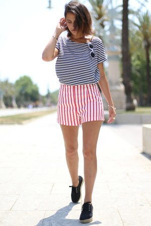 espadrilles asos shorts - striped Zara shorts - striped pull&bear top