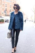 Twist & Tango coat - Bimba & Lola bag - Zara pants