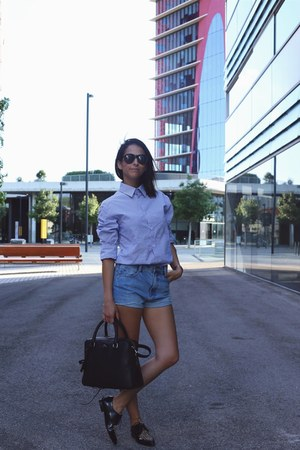 black Tous bag - navy Carrascal shirt - black Emma Go loafers