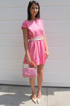 light pink pink boheme dress - bubble gum leather united colors of benetton bag