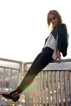 Zara boots - black jeans Zara jeans - Forever 21 jacket - Ray Ban sunglasses