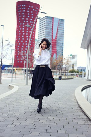 off white Zara shirt - black asos skirt