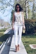 light yellow indi & cold bag - yellow indi & cold blouse - ivory H&M pants