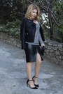Silver-sequined-mango-jumper-black-faux-leather-zara-skirt