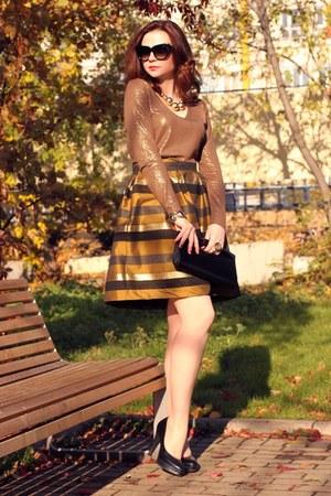 tawny asos skirt - nude Sinequanone sweater