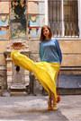 Carrot-orange-mexx-purse-gold-bershka-heels-navy-zara-top
