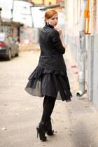 black united colors of benetton dress - black Uniqlo blazer