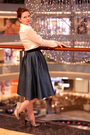 asos skirt - Zara heels - banana republic blouse