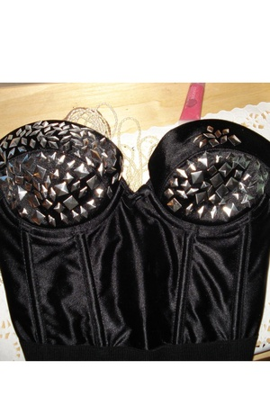 DIY Black Stripper Bustier