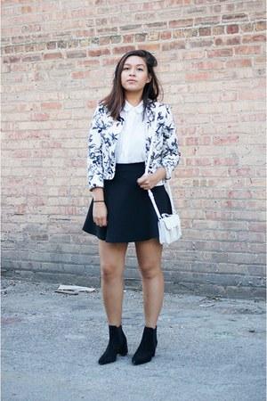 navy Topshop blazer - black Zara boots