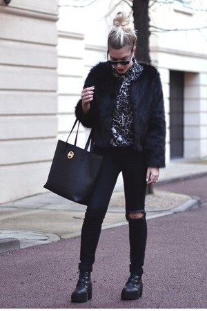 romwe boots - Choies jacket - Choies shirt - Michael Kors bag