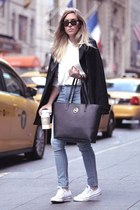 jennyfer coat - JCrew shirt - Michael Kors bag