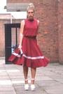 Burgundy-lavish-alice-skirt-burgundy-lavish-alice-top-lavish-alice-heels