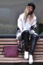 Choies-boots-gat-rimon-coat-choies-hat-jcrew-shirt-gat-rimon-bag