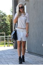 transparent Choies blouse - Choies boots - OASAP bag - asos bracelet