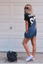 navy ddenim dungaree Motel Rocks shorts
