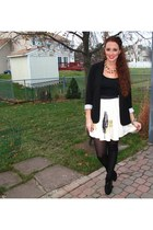 Smith & Smith skirt - Forever 21 blazer - H&M tights - Opening Ceremony heels