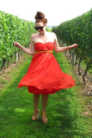 H&M dress - Lanvin x H&M sunglasses - Nine West wedges