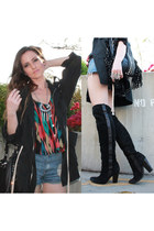 asos boots - printed Rieley t-shirt - Kristin Perry accessories