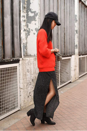 Topshop sweater - Aldo boots - General Idea hat - Marks &amp; Spencer skirt