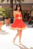 ivory Zara flats - carrot orange asos dress