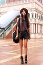 Purple-random-from-hong-kong-top-black-zara-shorts-black-random-from-hong-ko