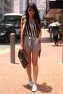 Off-white-zara-shoes-bronze-hong-kong-jacket-heather-gray-h-m-shorts