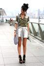 Green-from-japan-shirt-white-zara-shorts-black-random-from-hong-kong-shoes-