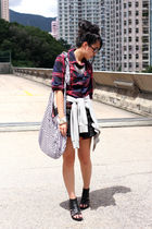 red Maple shirt - black Zara shorts - gray H&M jacket - black random from Hong K