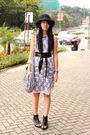 White-random-from-hong-kong-dress-black-random-from-hong-kong-shoes-silver-a