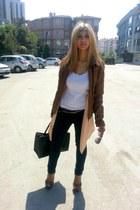 soft pink Vero Moda cardigan - leopard Payless heels