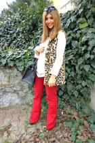 leopard Zara vest