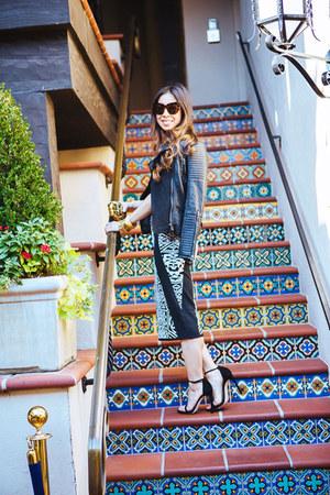 black JCPenney jacket - black nicole miller dress