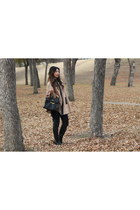 tan Kenar cape - heather gray Piazza Sempione cape - black coach boots