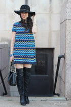 Marciano hat - coach boots - missoni for target dress - CC Skye bracelet