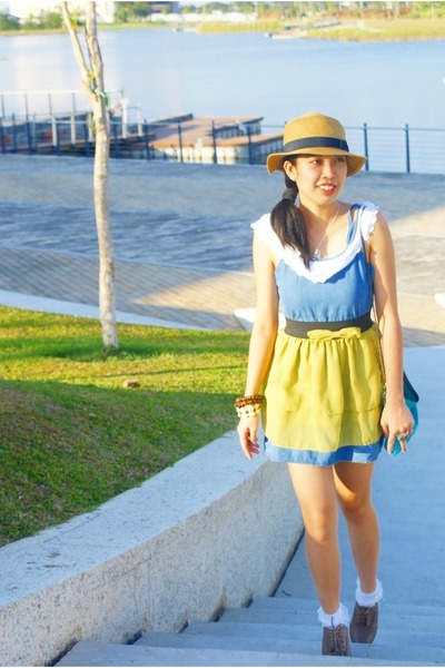 Forever 21 shoes - thrifted vintage dress - sm department store hat - Never Been