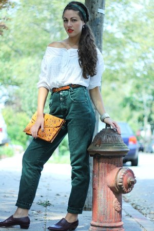 green denim zena jeans - Calypso st barth shirt