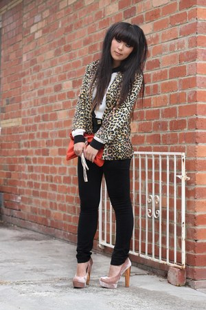 light pink Topshop heels - black Cheap Monday jeans