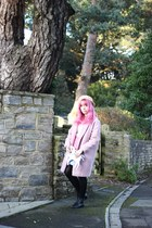 pink River Island skirt - bubble gum Primark jacket - heather gray Ebay bag