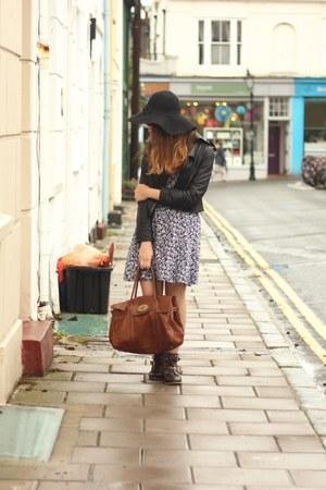 black felt fedora Primark hat - dark brown ankle boots Topshop boots