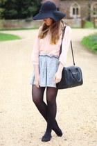 light pink Primark blouse - black Primark hat - black Primark bag