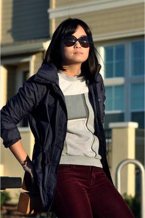 gray Miss Sixty sweatshirt - Lands End Canvas jacket - Gap pants
