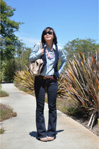 curvy bootcut Gap jeans - chambray martin  osa blouse - corduroy Bitten by SJP v